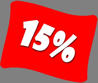 фото скидка 15 процентов